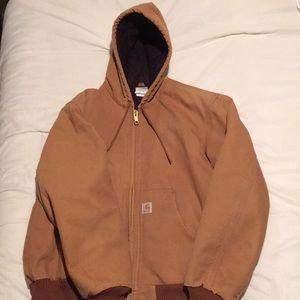 Carhartt tan jacket large